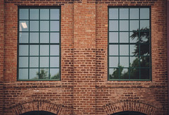 Brick Wall (Wes Hicks) Tags: old building brick wall reflections symmetry