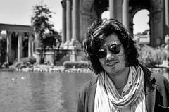 Ravi (ottokar790) Tags: portrait man sunglasses 50mm nikon kodak 400tx fe nikkor palaceoffinearts nikonfe kodak400tx nikkor50mm
