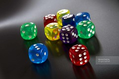 [dice coloured low res] (RHiNO NEAL) Tags: blue red dice game green yellow die purple neil rhino coloured neal rhinoneal
