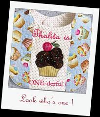 1st birthday bib (Nice Threads) Tags: birthday cupcakes bib bibs cupcakebib girlsbib