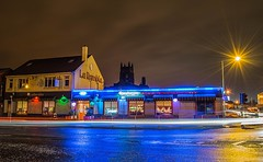 La Rambla (NoOneLikeMe78) Tags: street architecture night restaurant scotland larambla lighttrails paisley renfrewshire renfrewroad nikond3300 marilynconnor