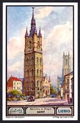 Liebig Tradecard S1330 - Gent (Ghent) (cigcardpix) Tags: church bells vintage advertising belgium ephemera liebig tradecards