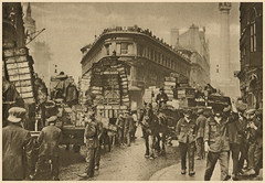 Billingsgate porters (Simon_K) Tags: old 1920s urban streets london sepia wonderful lost image before days nostalgia photograph forgotten times roads yesterday scenes olden trades twenties howweusedtolive photogravure wonderfullondon stjohnadcock alarecherchedetempsperdu donaldmacleish