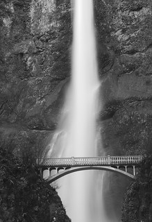 Multnomah Falls - B&W