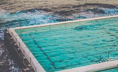 Pool by the sea (YouCanCallMeViv) Tags: ocean trip travel blue sea mer water pool swimming french hotel rocks waves australia wanderlust swimmingpool fancy dreamy australien luxury chill luxe wander piscine australie
