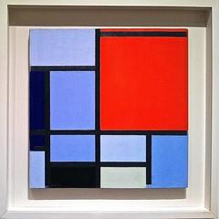 Composition, 1921 (azkaged) Tags: blue red newyork abstract art geometric museum modern composition met mondrian metropolitan metropolitanmuseumofart pietmondrian