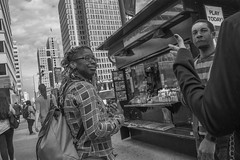 15th Street, 2015 (Alan Barr) Tags: street people blackandwhite bw philadelphia monochrome mono blackwhite candid group streetphotography sp streetphoto gr ricoh 15thstreet 2015