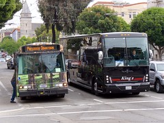 Buses on Van Ness (Travis Estell) Tags: sanfrancisco california bus bayarea citybus charterbus