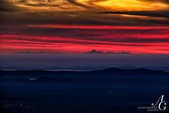 Distant Delight (TranceVelebit) Tags: winter sunset sea italy mountains grande view dusk croatia far adriatic distant visibility corno apennines velebit dinaricalps