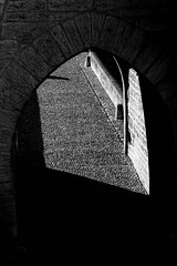 IMG_2848 (dcdnc) Tags: bridge building art water monochrome wall architecture modern stairs contrast landscape lot pont cahors