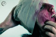 Grace//Psycho Shoot (jesse_tomasello) Tags: blackandwhite canon studio eos crazy blood knife tattoos psycho horror 5d bandages jtomasellophotography