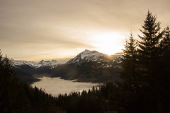 French Alps sunset (jean-nicolaslehec) Tags: trees sunset sunlight france mountains clouds landscape photography frenchalps