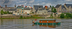 Journey on the Loire (yorkiemimi) Tags: explore france saumur river loire boat house city scenery water sky