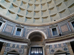 Pantheon, above door