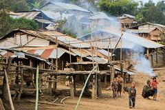 Akha village (Laura Jacobsen) Tags: laos hilltribe akha phongsaly phongsali akhanoukouy