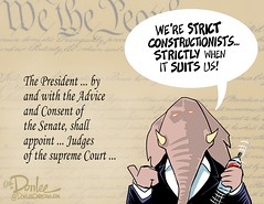 0216 strict obstructionist cartoon (DSL art and photos) Tags: delay constitution obama republicans supremecourt partisan editorialcartoon scotus doasisaynotasido donlee adviseandconsent pettypolitics appointmentsclause