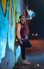 """""""Smoke In The City"""" (Simone D'andrea) Tags: street city boy color boys sport photo foto photos blu cigarette smoke fotografia murales strade citt ragazzo fumo sigaretta modello"""