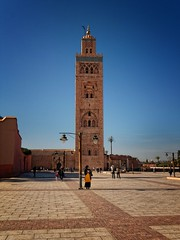 2014.12 - Marrakesh, Marocco (rambles_pl) Tags: city people woman tower square mosque marocco marrakesh  meakec