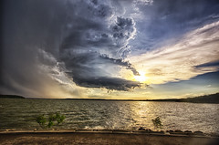 Storm spin begins (Kansas Poetry (Patrick)) Tags: storm kansas tornado stormclouds lawrencekansas clintonlake tornadicweather patrickemerson patricklovesnancy
