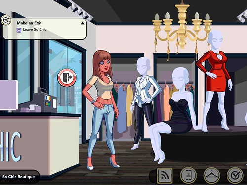 Kim Kardashian: Hollywood quests: screenshots, UI