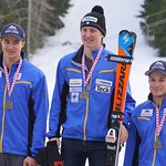 Red Mountain Fidelity BC Cup SL - Overall Podium - left to right: Huston Philp, Dominic Unterberger, Michael Soetaert