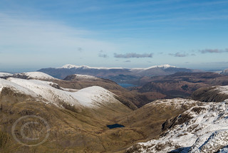 Lake District Feb 2016 (2) 369 - Looking towards Styhead from Sca Fell Pike - our way back