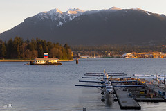 Seaplanes (irawlinson) Tags: mountain vancouver sunrise dawn harbor waterfront harbour britishcolumbia stanleypark chevron seaplane coalharbour coalharbor