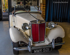 MG (JKmedia) Tags: old red cars car vintage jack benz shiny technology open garage wheels progress retro mg workshop manmade vehicle morgan bonnet beaulieu manufactured relic yesteryear garages canoneos7dmarkii boultonphotography morgangarages