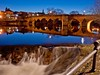 River Nith at the White Sands in Dumfries (penlea1954) Tags: new old uk bridge lady standing john river scotland king bridges oldest balliol dumfries galloway nith caul devorgilla