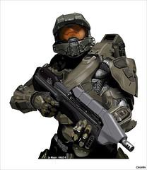 le major (halo 4) (Christian Bachellier) Tags: graphic halo games dessin jeu personnage vectoriel lemajor