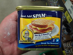 SPAM 25% Less Sodium (2) (Handsomejimfrommaryland) Tags: seattle tower turkey nude asian lite oven market spam low meat 25 blonde grocery foreign sodium outlet less roasted export hormel foriegn