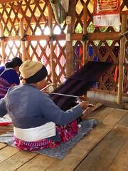Doi Inthanon NP, Thailand (Jan-2016) 10-007 (MistyTree Adventures) Tags: woman thailand asia seasia indoor karen weaving loom hilltribe doiinthanon panasoniclumix karenhilltribe doiinthanonnationalpark hilltribevillage