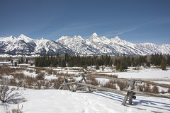 The Mountains are Calling (AnitaBurke1) Tags: winter mountain fence landscape outdoors scenic happiness health wyoming grandtetons healing range mountainrange grandtetonnationalpark grandtetonmountainrange anitaburke