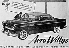 1953 Willys Aero Eagle Hardtop (aldenjewell) Tags: hardtop newspaper eagle ad willys aero 1953