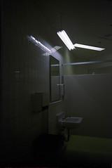 Third Floor Washroom (Cassandrea Xavier) Tags: film vertical analog dark sink fluorescent disposablecamera analogue filmcamera disposable fluorescentlight disposablefilmcamera disposablefilm