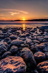 Sunsets rocks! (Konalley) Tags: sunset sea seascape cold sunrise finland rocks outdoor talvi beatiful maisema winterlandscape auringonlasku