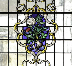 To Her Majesty the Queen... (Lawrence OP) Tags: ireland england london rose wales scotland thistle stainedglass bouquet leek shamrock webb stlawrencejewry