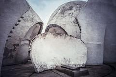 Sneaking Into the lunar moth's lair (Demipoulpe) Tags: park building architecture modern project concrete photography moth abraham ukraine memory 1978 organic shape kiev lunar brutalism brutalist cccp archi ags architectureporn archiporn  ukrainia  miletskiy