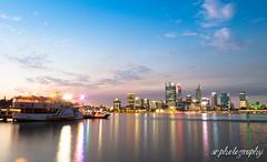Perth City Skyline (fotosiris) Tags: city south perth westernaustralia swanriver foreshore cityskyline g7 nightskyline perthcity southperthforeshore lumixg7