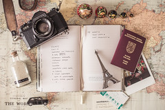 List 15 (junestarrr) Tags: world stilllife travelling writing vintage finland notebook photography map diary eiffeltower journal list filmcamera passport lists matryoshka listing journalling nikond600 mooreaseal flatlay the52listsproject