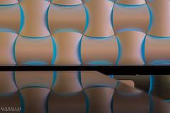 Blue Wall (Kindallas) Tags: light abstract geometric wall reflex led form