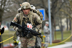 160324-A-WR700-049 (U.S. Department of Defense Current Photos) Tags: germany competition lageraulenbach nato baumholder usarmyeurope ruckmarch 12miles 173rdairbornebrigadecombatteam 2ndcavalryregiment expertfieldmedicalbadge