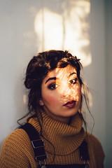 Portrait Lumire (John.Watson Photography) Tags: light girl nikon candid portait makeup 85mm retro jumper f18 lightroom vsco