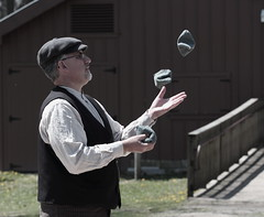 The Juggler, Kline Creek Farm. (EOS) (Mega-Magpie) Tags: people usa chicago man west guy america creek canon person eos illinois farm dupage dude il juggler kline 60d