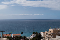 horizon (Fjola Dogg) Tags: ocean vacation espaa holiday building architecture canon buildings outside outdoors island spain europe outdoor horizon nopeople tenerife atlanticocean canaryislands haf evropa loscristianos evrpa atlantshaf fjoladogg fjladgg canonpowershotg7x canong7x callelamontaa