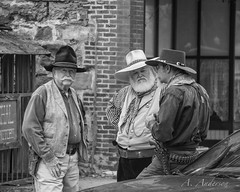 The wild, wild, west (A Anderson Photography, over 1 million views) Tags: bw canon western vests wildwest guthrie stetson sixshooter