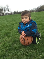 The future basketball player  (rayanmust) Tags: park cute green nature basketball outdoors kid child handsome future pure purity basketballplayer