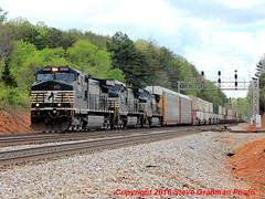 Northbound at Hurt (BNSFDS) Tags: bridge train virginia hurt norfolk railway southern signal ctc 212 intermodal