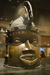 head worn for the Ododua masquerade, Benin, Nigeria (2) (Mr. Russell) Tags: africa england london head nigeria benin britishmuseum ododua