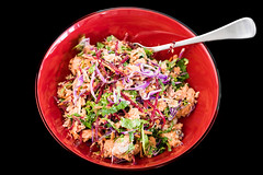 Salmon and kale coleslaw (garydlum) Tags: salmon canberra kale coleslaw
